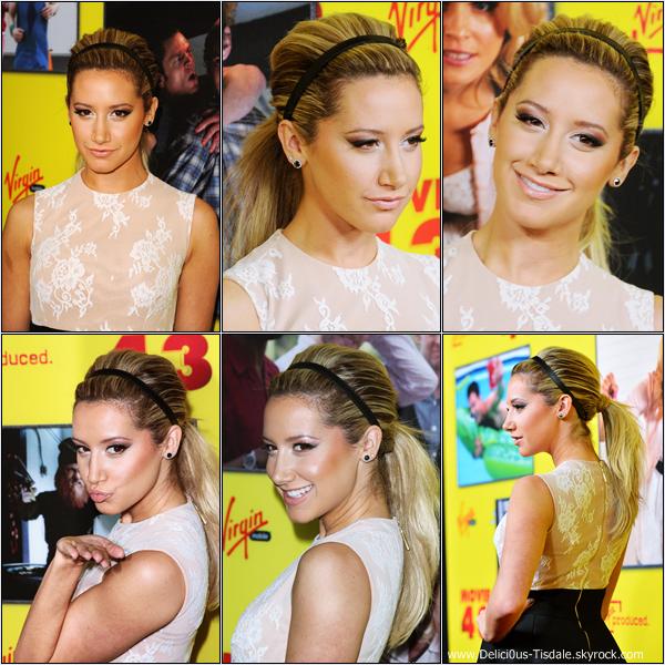 -   23/01/2013: Ashley à la première du film Movie 43 qui se déroulait à Los Angeles.   -