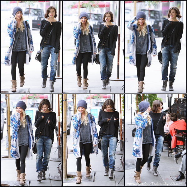 -   05/02/2013: Ashley arrivant au Urth Caffé avec son amie Emma Lahana dans West Hollywood.   -