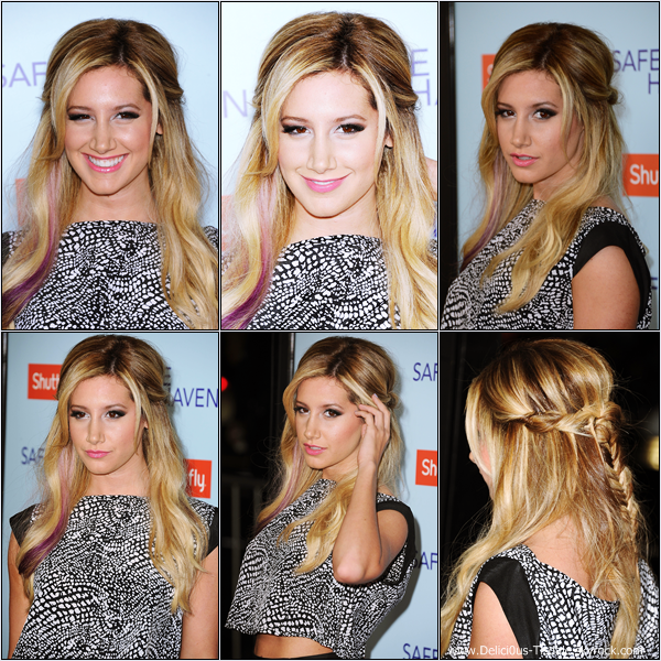 -   05/02/2013: Ashley à la première du film Safe Haven qui se déroulait à Los Angeles.   -