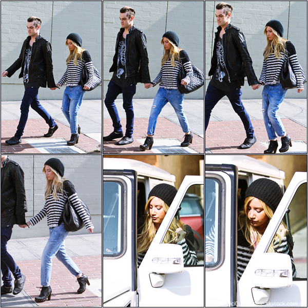 -   06/02/2013: Ashley et son petit-ami Christopher French quittant le Kings Road Cafe à Studio City.   -