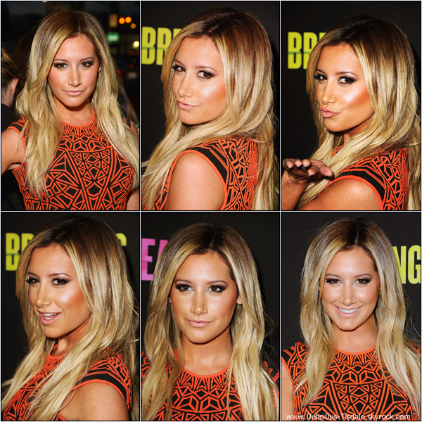 -   14/03/2013: Ashley à la première du film Spring Breakers à Los Angeles.   -