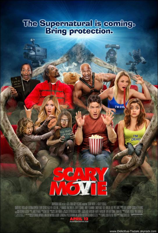 -   Scary Movie 5: Découvrez un nouveau trailer de Scary Movie 5, le prochain film d'Ashley.   -