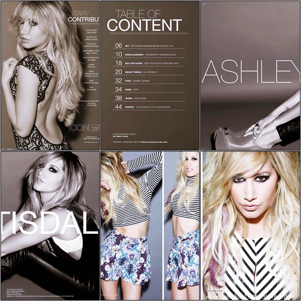 -   Icon Magazine: Découvrez Ashley dans le magazine Icon pour l'édition Printemps 2013.   -