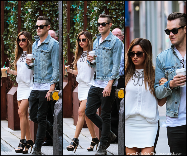 -   09/04/2013: Ashley et son petit-ami Christopher French quittant le Starbucks à New-York.   -