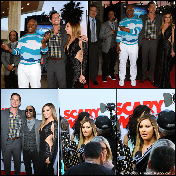 -   11/04/2013: Ashley quittant son domicile pour se rendre à la première de Scary Movie 5 à Toluca Lake.   -