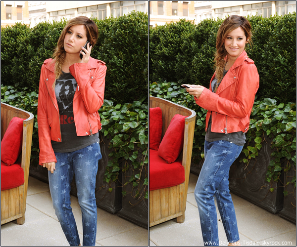 -   10/04/2013: Ashley promouvant la marque Rock & Republic pour les jeans Khol's à New-York.   -