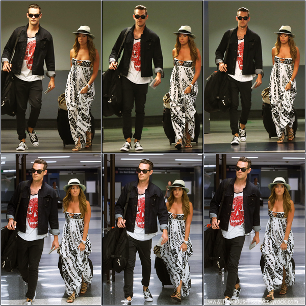 -   23/04/2013: Ashley et son petit-ami Christopher French arrivant à l'aéroport LAX de Los Angeles.   -