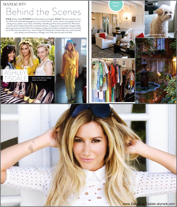 -   Maniac Magazine: Découvrez les scans du magazine Maniac dont Ashley fera la couverture au mois de Juin.   -