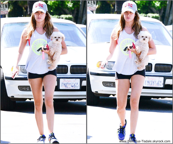 -   13/05/2013: Ashley et sa chienne Maui rejoignant sa maison à Toluca Lake.   -