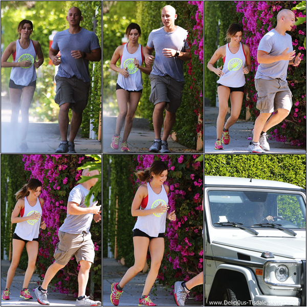 -   20/05/2013: Ashley faisant un footing en compagnie de son entraîneur personnel Harley Pasternak dans West Hollywood.   -