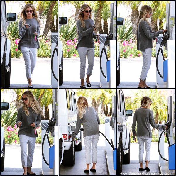 -   02/06/2013: Ashley quittant un salon de beauté à Hollywood.   -
