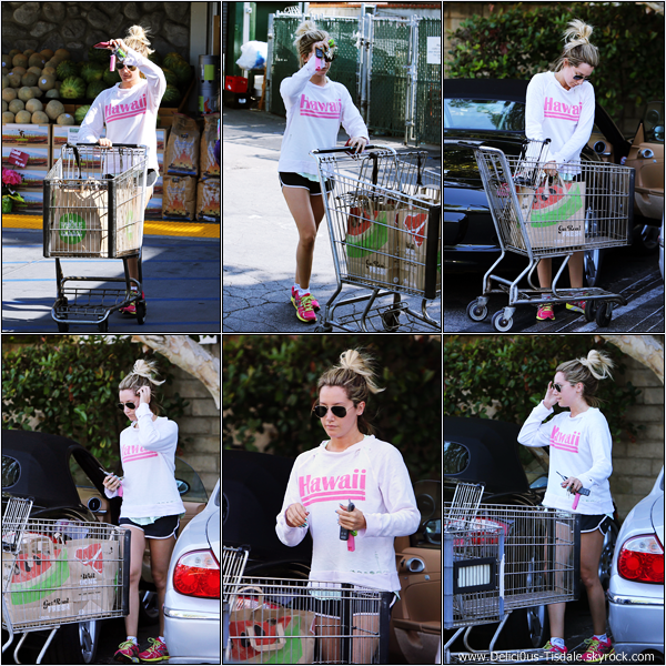 -   12/06/2013: Ashley arrivant/quittant le Whole Foods dans Studio City.   -