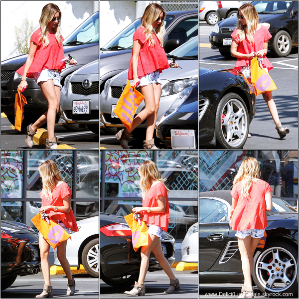 -   28/06/2013: Ashley quittant sa maison à Toluca Lake.   -