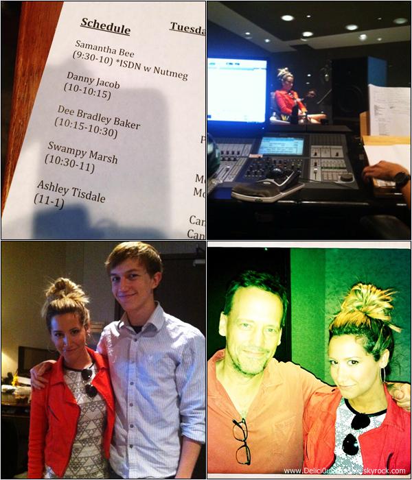 -   16/07/2013: Ashley enregistrant sa voix pour le personnage de Candace pour Phinéas & Ferb dans des studios de Los Angeles.   -