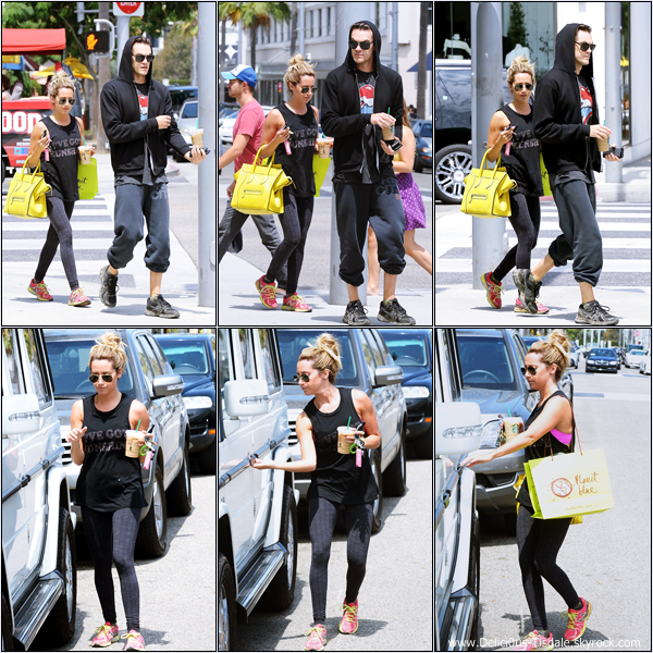-   22/07/2013: Ashley et son petit-ami Christopher French faisant du shopping chez Planet Blue à Beverly Hills.   -