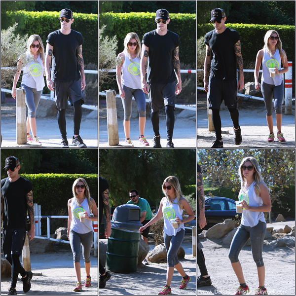 -   14/09/2013: Ashley et son fiancé Christopher French faisant une randonnée au Runyon Canyon à Hollywood.   -