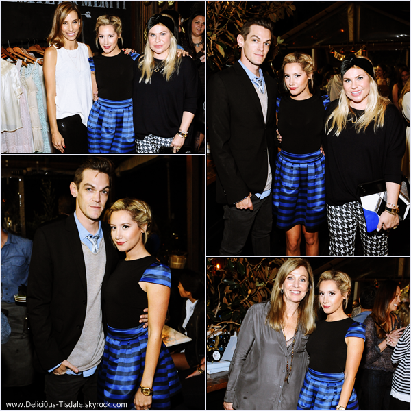 -   24/09/2013: Ashley et son fiancé Christopher French assistant à la soirée Emily & Meritt For PBteen dans West Hollywood.   -