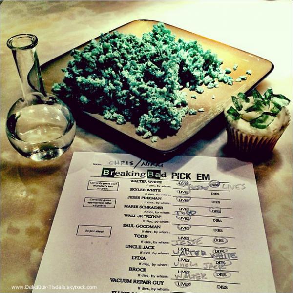 -   30/09/2013: Découvrez quelques photos Instagram de la soirée organisée par Ashley et Christopher pour le final de la série Breaking Bad.   -