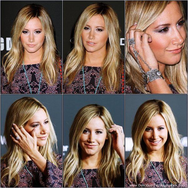 -   03/10/2013: Ashley assistant au lancement de la 4ème saison de la série The Walking Dead à Universal City.   -