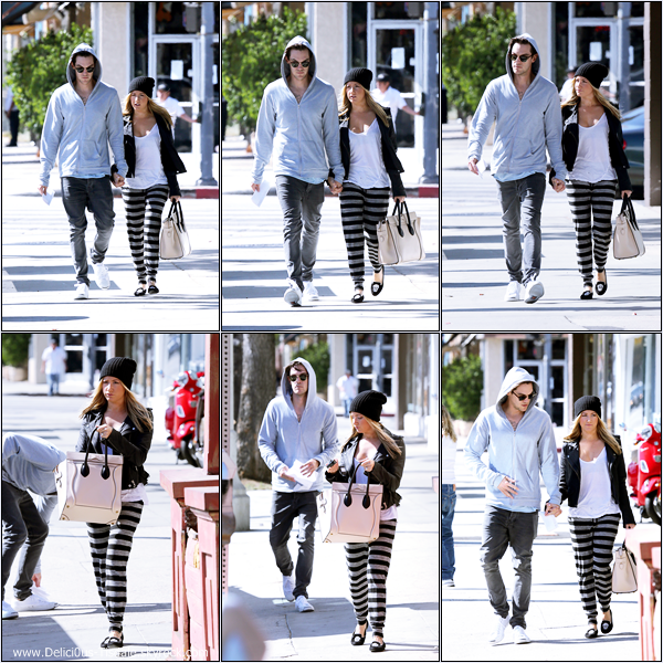 -   08/10/2013: Ashley et son fiancé Christopher French allant déjeuner à Beverly Hills.   -