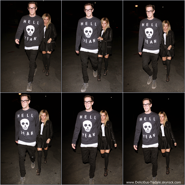-   23/10/2013 : Ashley et son fiancé Christopher French arrivant au We Can Survive – Music For Life Concert qui se déroulait au Hollywood Bowl à Los Angeles.   -