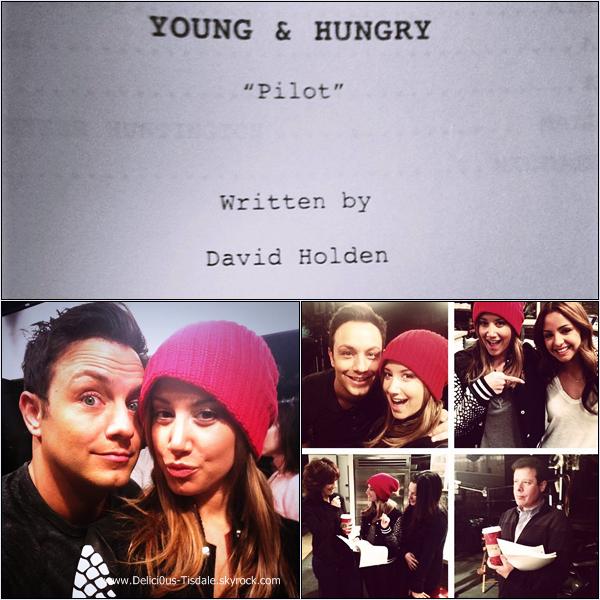 -   07/11/2013 : Ashley sur le tournage de la prochaine série qu'elle produit Young and Hungry à Los Angeles.   -