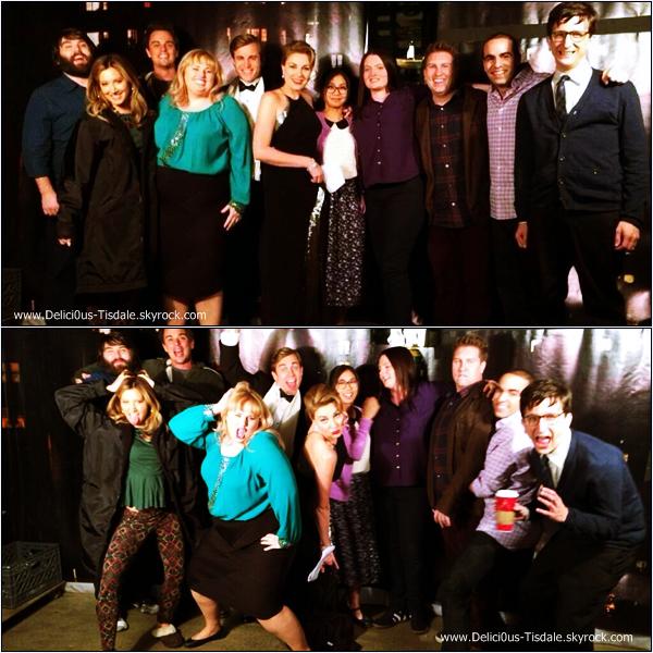 -   14/11/2013 : Ashley et le reste du cast sur le tournage de la saison 1 de la série Super Fun Night dans laquelle elle incarne le rôle de Jazmine.   -