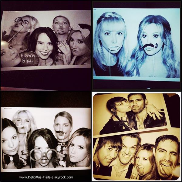 -   14/11/2013 : Ashley et son fiancé Christopher French fêtant leurs fiançailles avec famille et amis au Bistrot Bagatelle dans West Hollywood.   -
