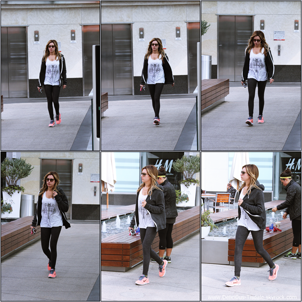 -   15/11/2013 : Ashley se rendant à la salle de gym Equinox dans West Hollywood.   -