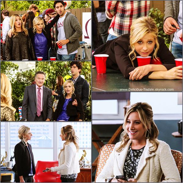 -   The Crazy Ones : Découvrez quelques nouveaux stills d'Ashley dans l'épisode intitulé The Intern où elle joue le personnage de Kelsi Lasker dans la série The Crazy Ones.   -