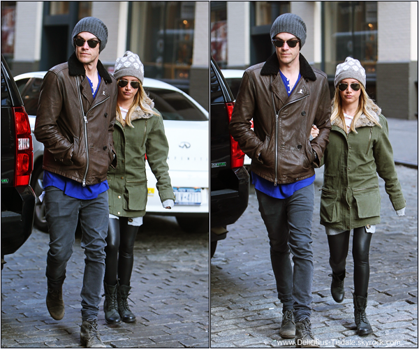 -   03/12/2013 : Ashley et son fiancé Christopher se promenant dans les rues de New-York.   -
