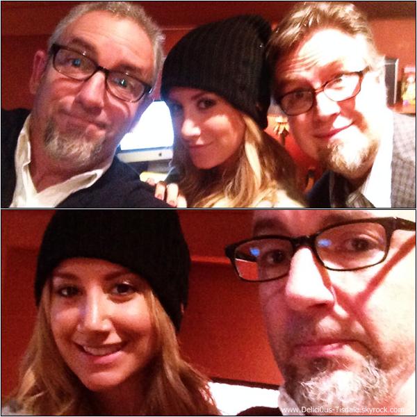 -   10/12/2013 : Ashley aux Margarita Mix Studios afin d'enregistrer la voix de Candace, personnage de Phinéas & Ferb à Los Angeles.   -