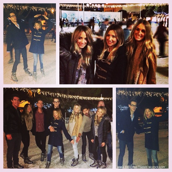 -   15/12/2013 : Ashley, son fiancé Christopher French et quelques amis célébrant l'anniversaire de Morgan Parks à la patinoire Ice Skating Rink à Santa Monica.   -