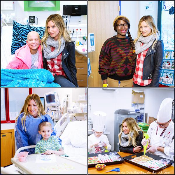 -   02/12/2013 : Ashley et son fiancé Christopher French rendant une visite à l'hôpital pour enfants St. Jude à Memphis.   -
