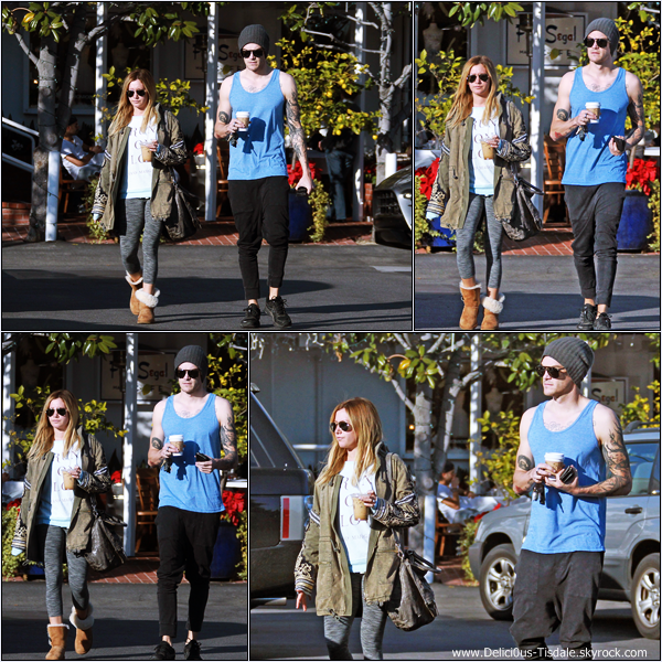 -   28/12/2013 : Ashley et son fiancé Christopher French quittant le Mauro's Cafe Fred Segal à Hollywood.   -