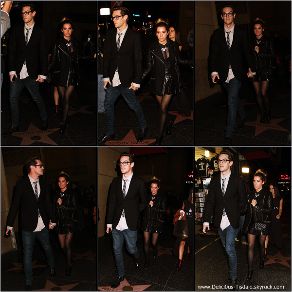 -   14/01/2014 : Ashley, son fiancé Christopher French et Kim Hidalgo quittant la projection du dernier film de leur amie Vanessa Hudgens à Hollywood.   -