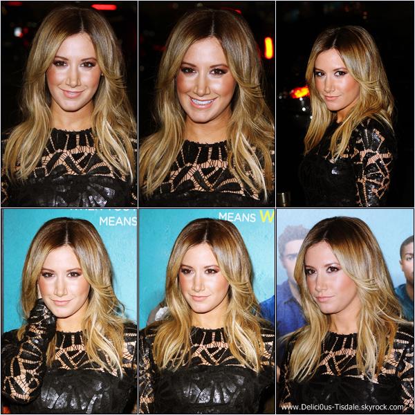 -   27/01/2014 : Ashley assistant à la première du film That Awkward Moment à Los Angeles.   -