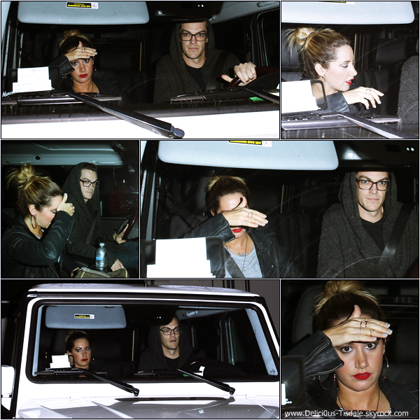 -   29/01/2014 : Ashley et son fiancé Christopher French arrivant/quittant le restaurant Craig dans West Hollywood.   -