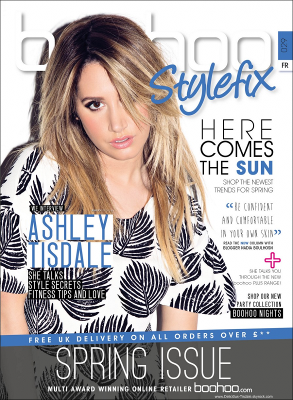 -   Boohoo Stylefix Magazine : Découvrez Ashley en couverture française pour le magazine Boohoo Stylefix pour l'édition Printemps 2014.   -