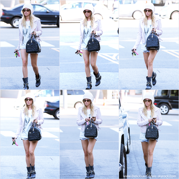 -   18/03/2014 : Ashley quittant le salon de coiffure Nine Zero One dans West Hollywood.   -