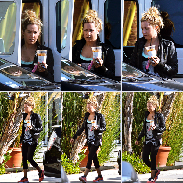 -   20/03/2014 : Ashley arrivant à la salle de gym Equinox dans West Hollywood.   -