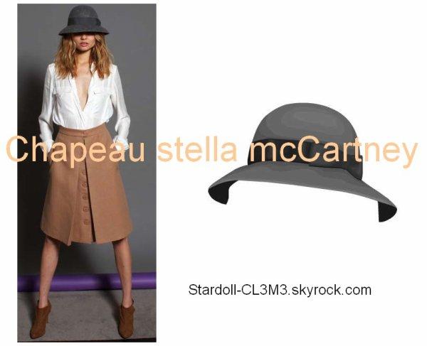 Le Chapeau Stella McCartney qui va avec la jupe (le premier hot buys de ce mois) est arrivé !