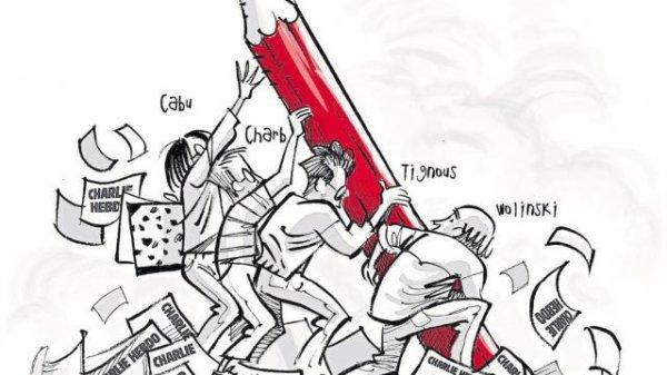 Hommage à l'attentat contreCharlie Hebdo