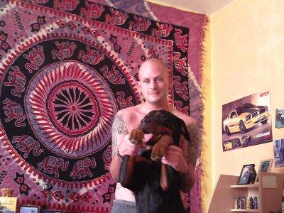 briska et moi + lucky son pote