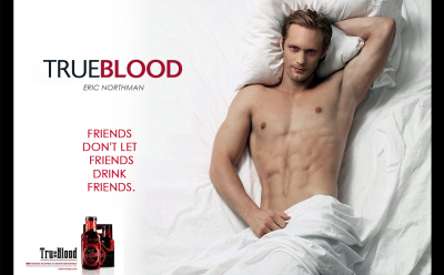 Alexander Skarsagard alias Eric Northman dans true blood !!