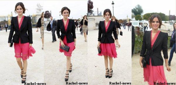 28.09 Rachel allant au défilée DIor et au défilée, et le 1.10 sortant du défilée Dior