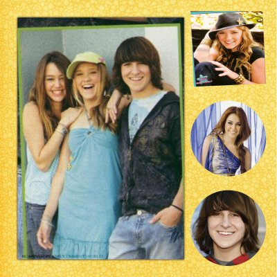 miley steywart oliver  et lilly de Hannah Montana