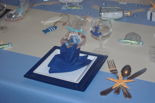 Table th me la mer deco de table de christine - Deco table bord de mer ...
