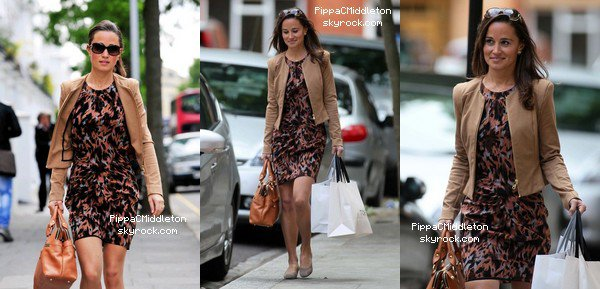 - 27/05/2011 : Pippa aperçue dans le quartier de Chelsea faisant son shopping : Tenue : Lunettes Gucci Havana - Veste beige - Robe Whistles - Chaussures Bennett Maddox Suede Wedges - Sac Modalu -