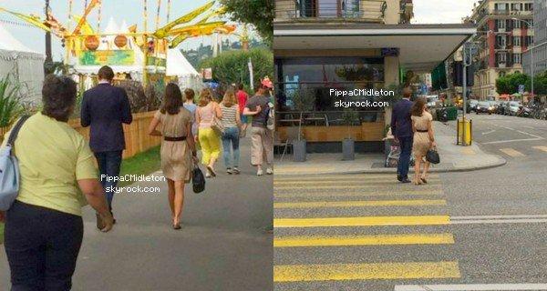 CANDID 4 Août 2014 :  _________________________________________________  Pippa & son amoureux Nico ont été aperçus dans les rues de Genève, malheureusement on les voit que de dos.